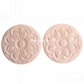 cnc carved wood onlay solid wood carving ornaments wood onlay for furniture 3