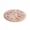 cnc carved wood onlay solid wood carving ornaments wood onlay for furniture 4
