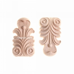 carved wooden onlay solid wood carving ornaments wood applique for furniture