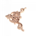 carved wooden onlay solid wood carving ornaments wood applique for furniture 4