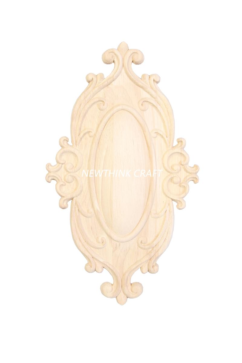 carved wooden onlay solid wood carving ornaments wood applique for door 1