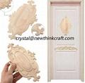 carved wooden onlay for door decoration ornaments wood applique for door 3