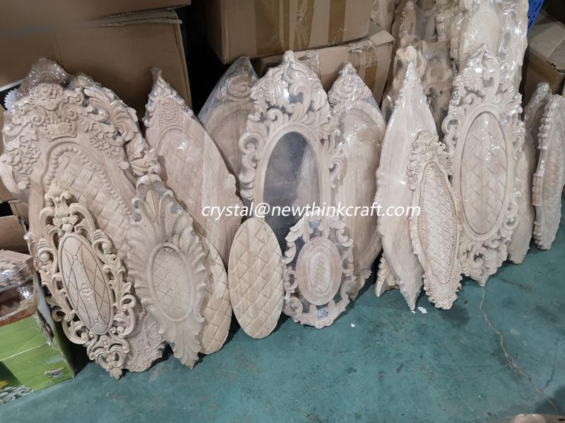 carved wooden onlay for door decoration ornaments wood applique for door 4