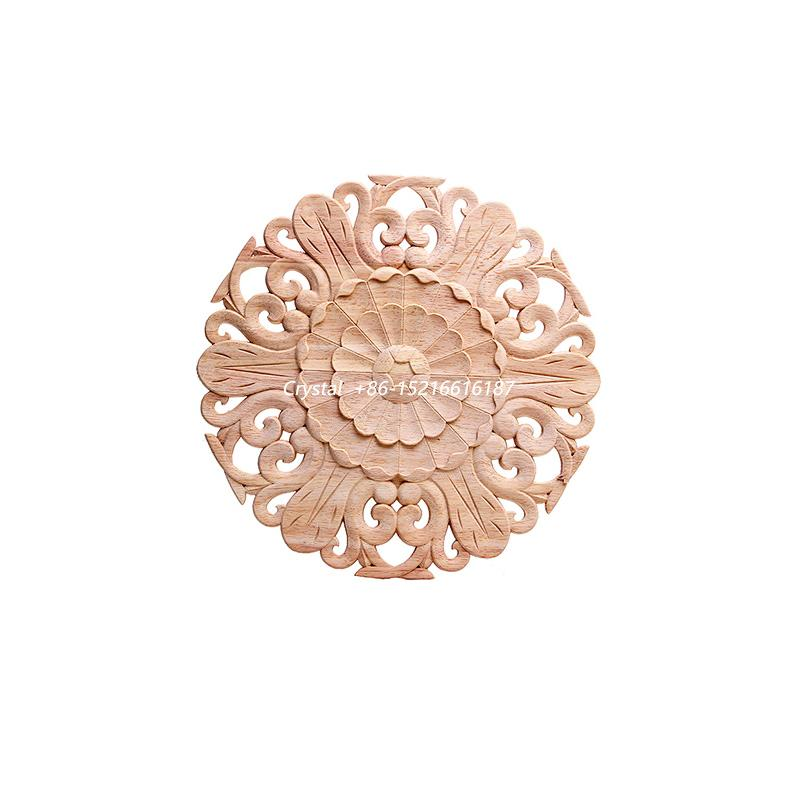 carved wooden onlay for furniture decoration ornaments wood applique for door 1