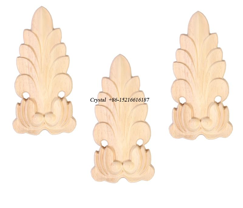 carved wooden onlays for furniture decoration ornaments wood appliques 1