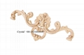 carved wooden onlays for furniture decoration ornaments wood appliques 2