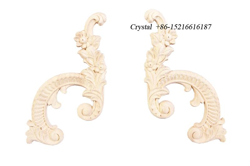 carved wooden onlays for furniture decoration ornaments wood furniture parts 2