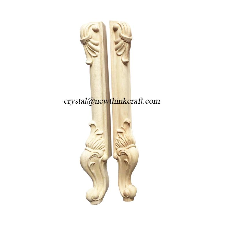 carved wood legs for furniture wooden ornaments furniture parts 3