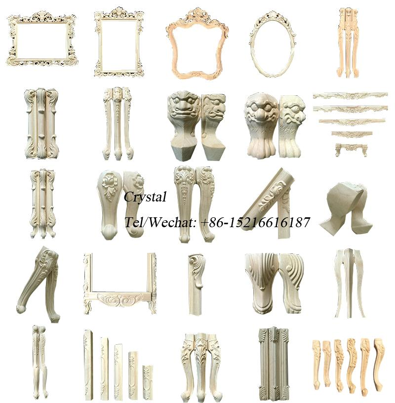 carved wood legs for furniture wooden ornaments furniture parts 8