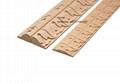carved wood baseboard moulding for interior decoration
