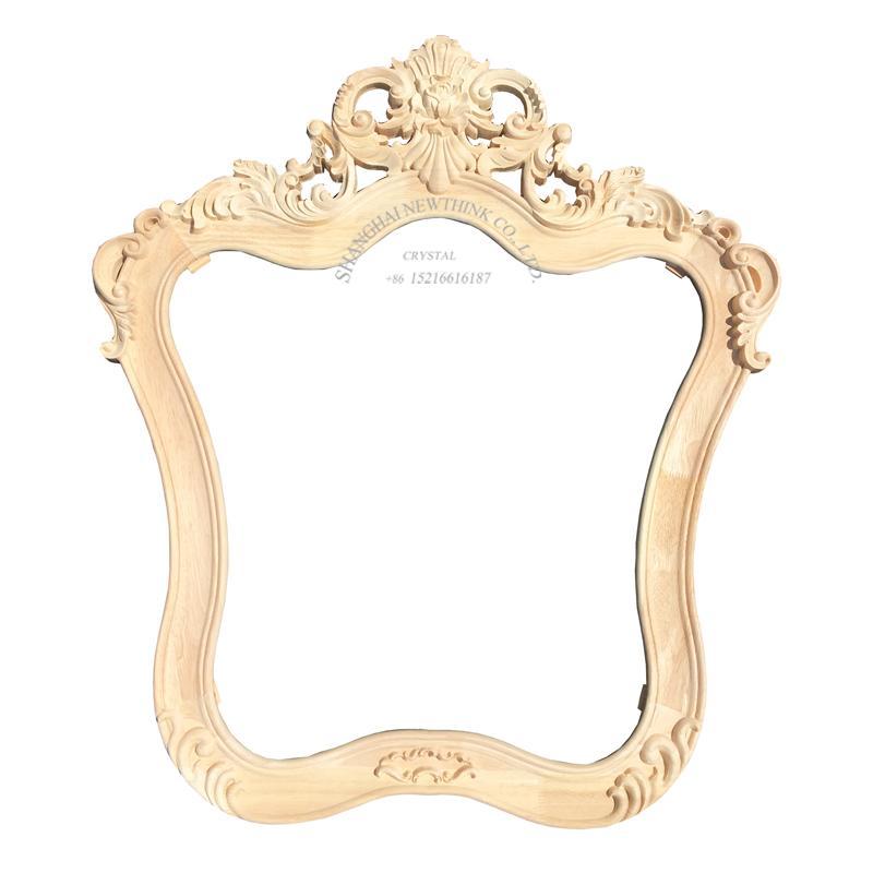 carved wood european mirror frame 1