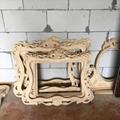 carved wood european mirror frame 4