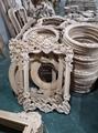 carved wood european mirror frame 3