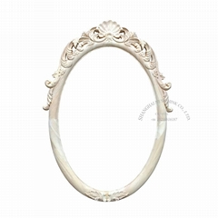 carved wood european mirror frame