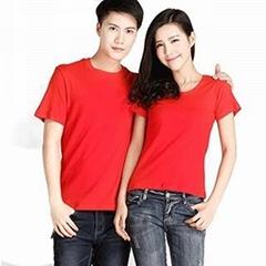 定製T卹短袖純棉廣告文化衫訂做工作衣服同學團體聚會班服
