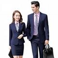 正装女套装秋冬装2019新款男女同款职业装企业工作服灰色西装定制 1