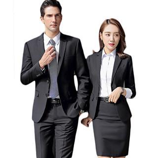 夏季男女同款职业装短袖工装气质正装4S店工作服衬衫定制刺绣logo 2