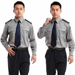 保安工作服套装男春秋冬长袖特训作训服黑色夏季短袖物业保安制服