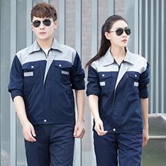 夏季工作服套装男蓝色薄款长袖短袖劳保男士耐磨厂服工地夏天