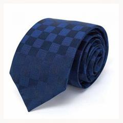 欧美领带男韩版正装商务黄色条纹礼盒装可定制农行领带头花丝巾