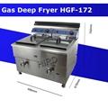 Professional deep fat fryer Gas deep fryer commercial HGF-172 2