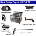 Professional deep fat fryer Gas deep fryer commercial HGF-172 3