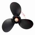 New 7 1/2 x 7 marine boat Aluminum Propeller For Suzuki Outboard Engine 4-6HP 3