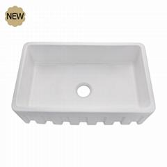 Large 33 Inch Single Kitchen Porcelain Sink