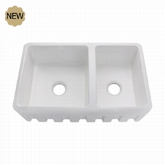 Double Bowl Farmhouse Ceramic Kitchen Sink