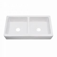Double Bowl Apron Front Ceramic Kitchen Sink