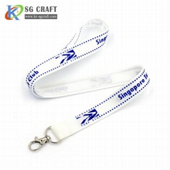 Custom high quality Sublimation printed Polyester id card holder neck lanyard