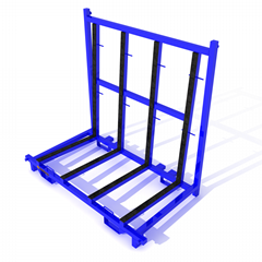 Warehouse Glass Rack a steel Transport Rack On The Factory
