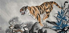 chinese painting --tiger series