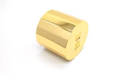 Golden perfume bottle cover 1