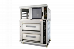 商用電組合爐二層四盤披薩麵包烤箱