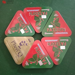 fatzorb减肥药包装盒铁盒烫印烫金防伪标