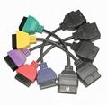 6 Adapter diagnostic cable set fiat alfa