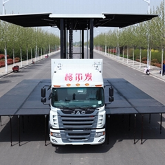 New customized LED display 9.6m mobile stage truck