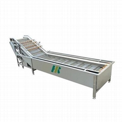 Green vegetable cleaning peeling machine cabbage spinach kohlrabi bubble washing