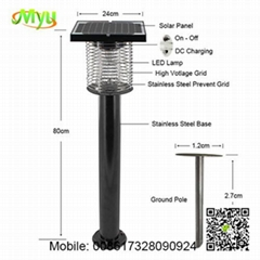 Solar Powered Pest Control Insect Killer Bug Zapper