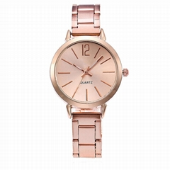 Watch Women Dress Stainless Steel Band Analog Quartz Wristwatch Fashion Luxury L