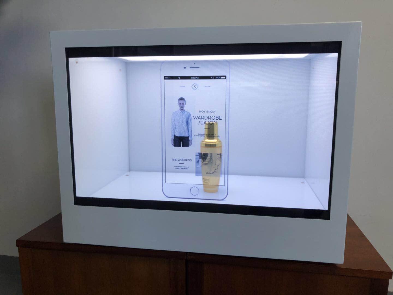 東莞市惠華電子廠家直銷22寸透明液晶展示櫃 1