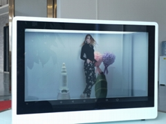 東莞市惠華電子廠家直銷23.6寸透明液晶展示櫃
