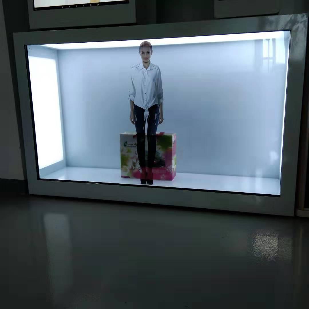 東莞市惠華電子廠家直銷55寸透明液晶展示櫃 1