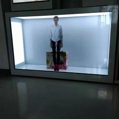 東莞市惠華電子廠家直銷55寸透明液晶展示櫃