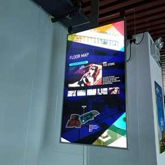 東莞市惠華電子廠家直銷43寸雙面超薄液晶顯示廣告標牌