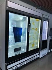 東莞市惠華電子廠家直銷55寸透明液晶顯示雙開冰箱