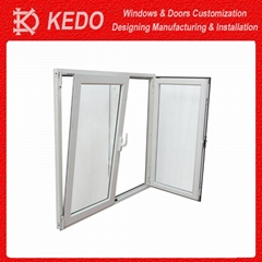 American Style Aluminum Frame Tilt Turn Window for Bathroom