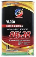 vapro威保金屬罐0W-30全合成酯汽車機油馬來西亞