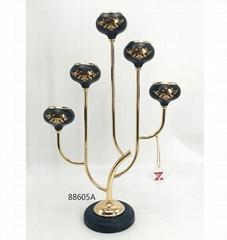 Black Gold Candle Holder
